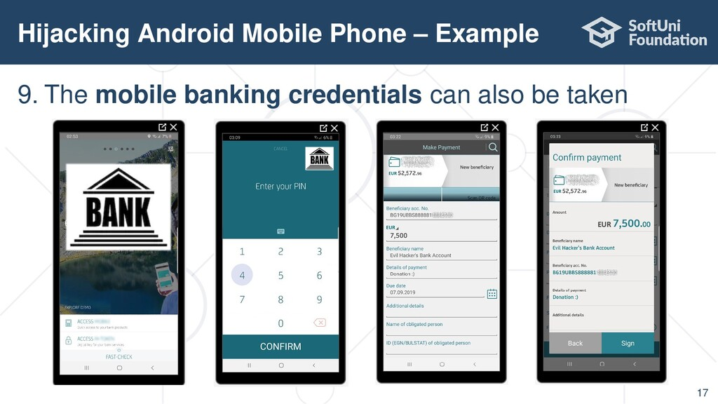 Hijacking Android Mobile Phone – Example 17 9. ...