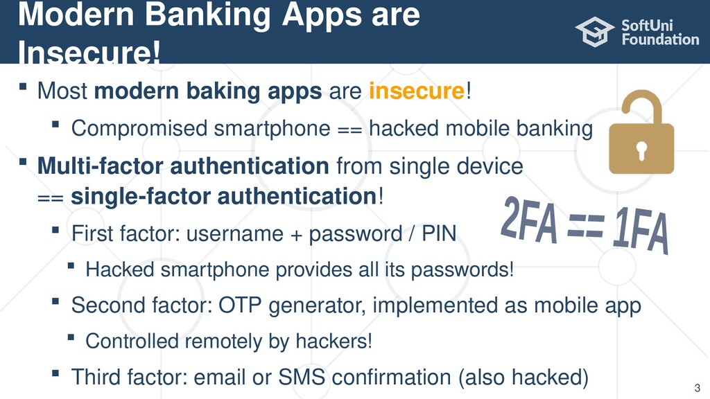  Most modern baking apps are insecure!  Compr...