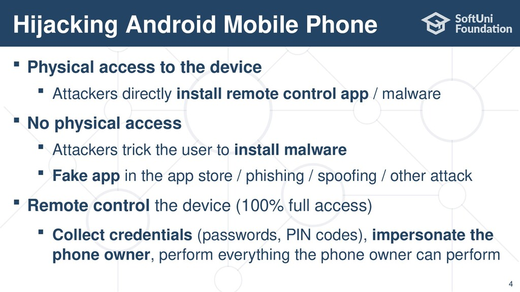 Physical access to the device  Attackers dir...