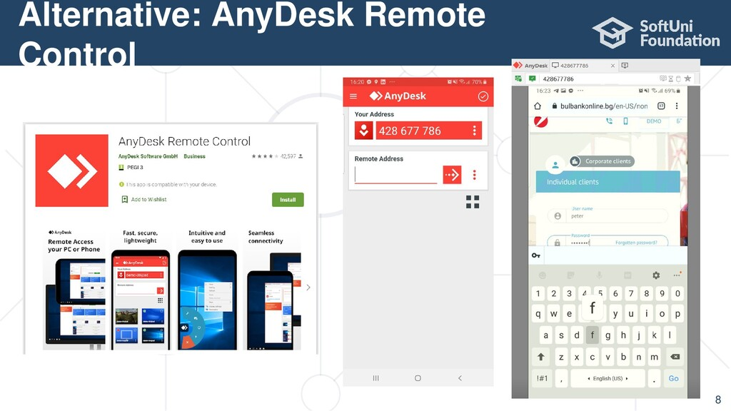Alternative: AnyDesk Remote Control 8