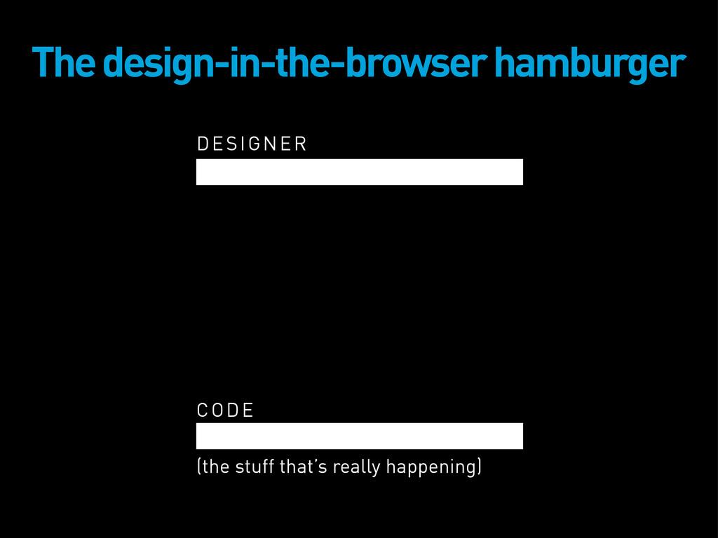 DESIGNER The design-in-the-browser hamburger CO...