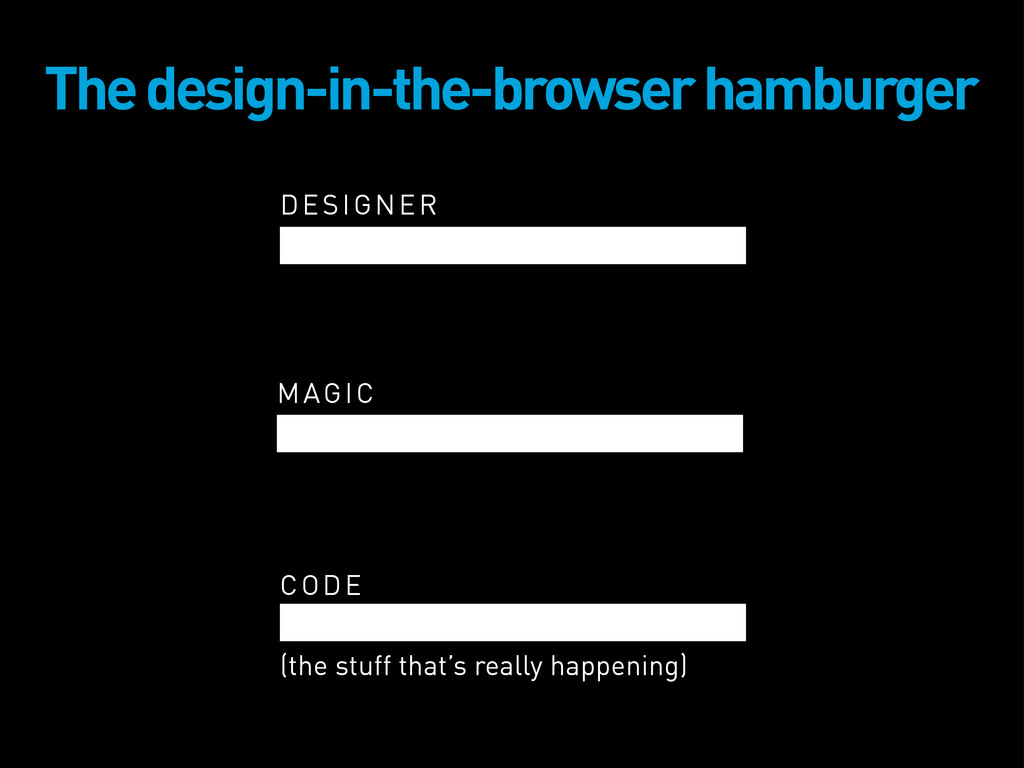 DESIGNER The design-in-the-browser hamburger MA...