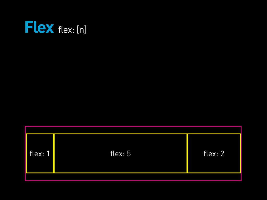 Flex flex: [n] flex: 1 flex: 5 flex: 2