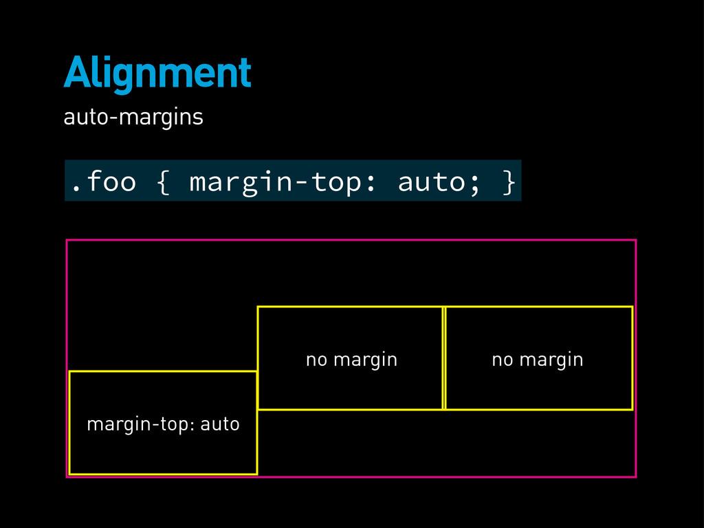 Alignment auto-margins margin-top: auto no marg...