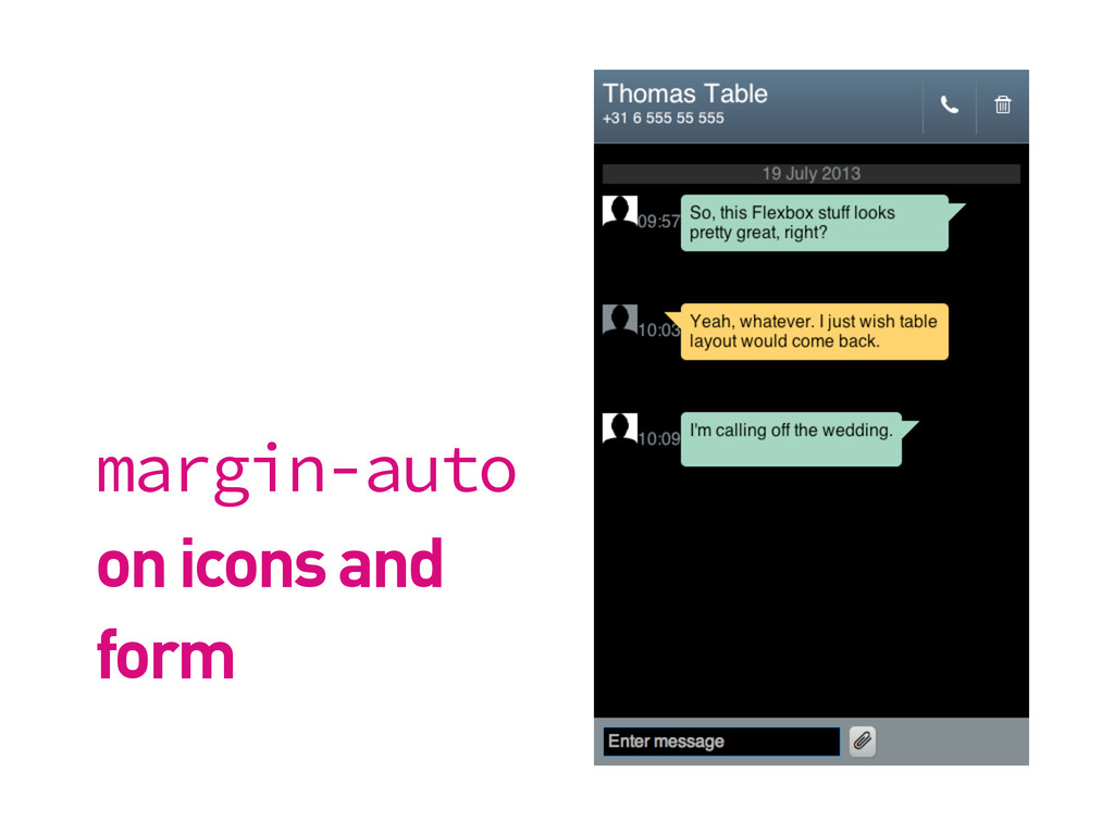 margin-auto on icons and form