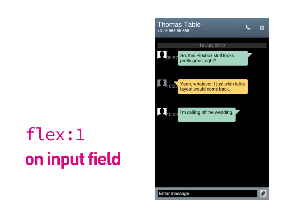flex:1 on input field