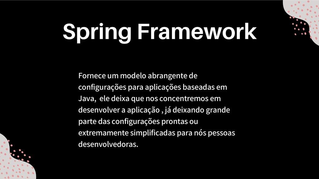 Fornece um modelo abrangente de configurações p...