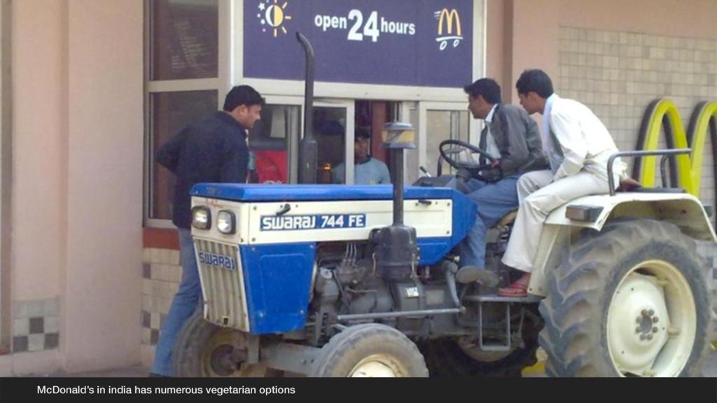 McDonald's in india has numerous vegetarian opt...