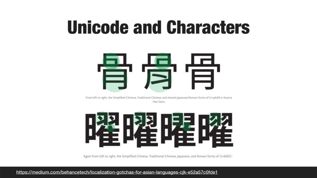 Unicode and Characters https://medium.com/behan...