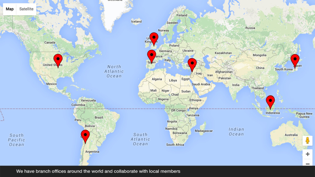 We have branch offices around the world and coll...