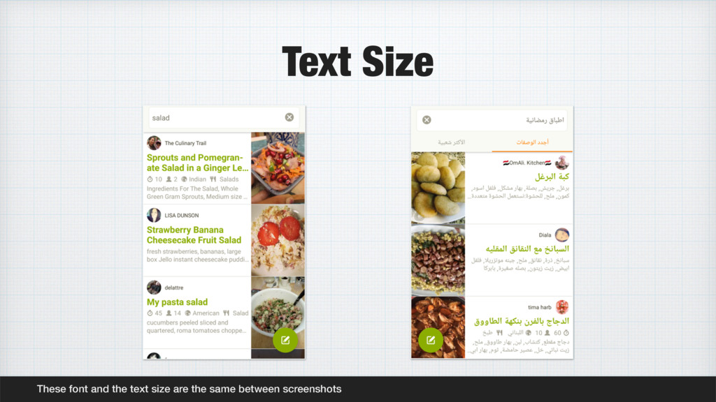 Text Size These font and the text size are the ...