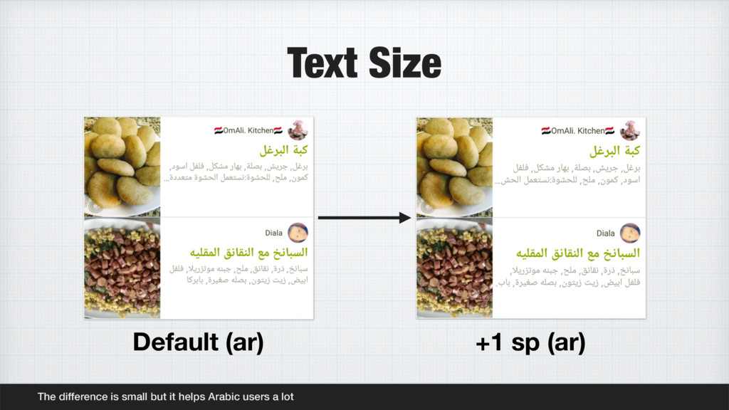 Text Size The difference is small but it helps ...