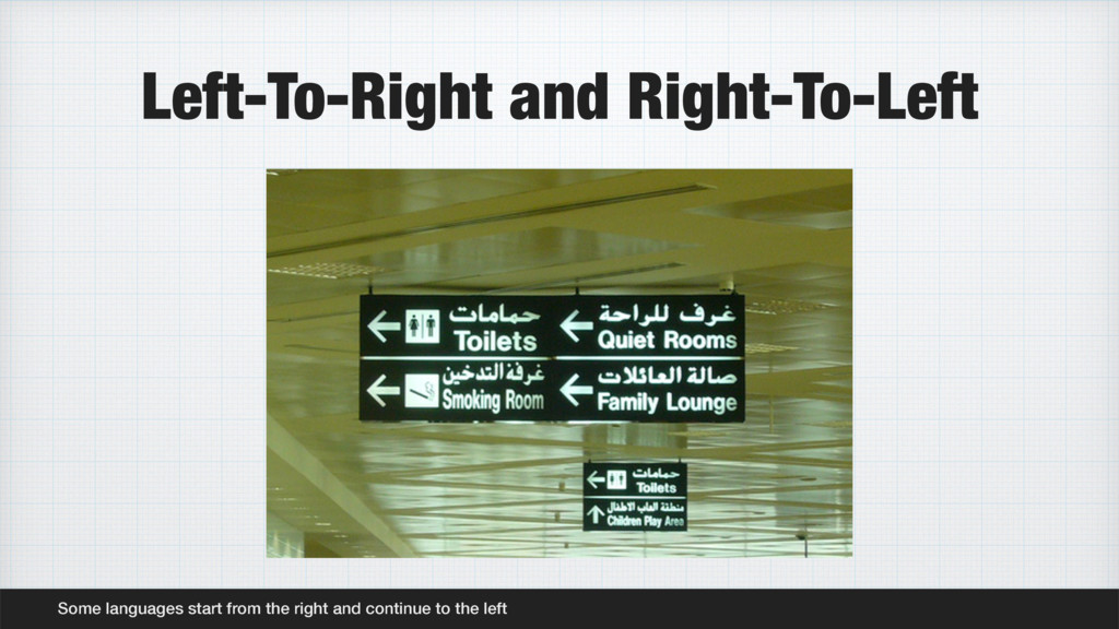 Left-To-Right and Right-To-Left Some languages ...