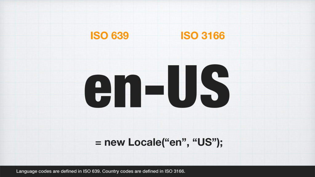 en-US Language codes are defined in ISO 639. Cou...