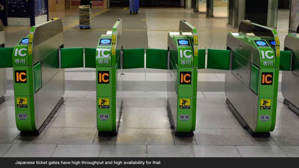 Japanese ticket gates have high throughput and ...