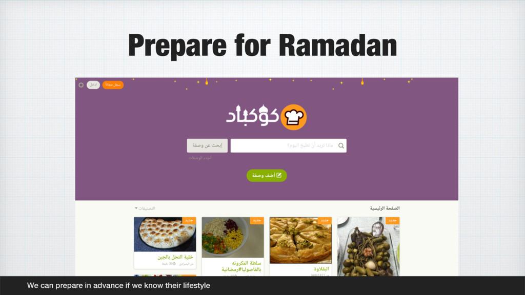 Prepare for Ramadan We can prepare in advance i...