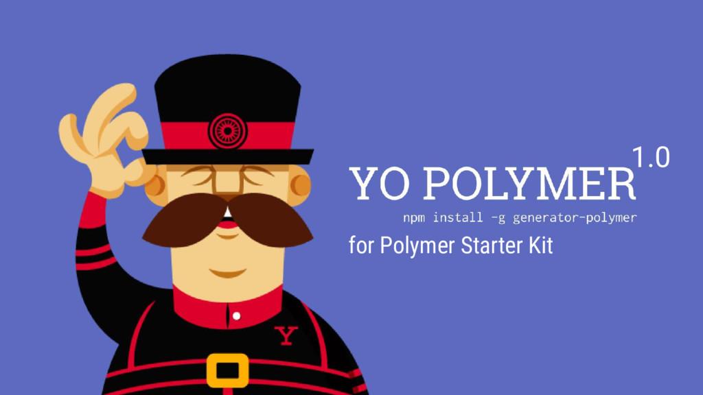 1.0 for Polymer Starter Kit