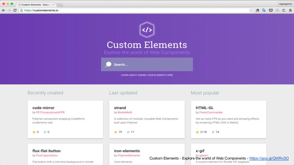Custom Elements - Explore the world of Web Comp...