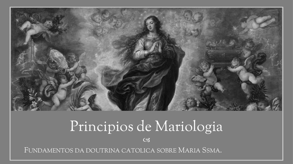  Principios de Mariologia FUNDAMENTOS DA DOUTR...