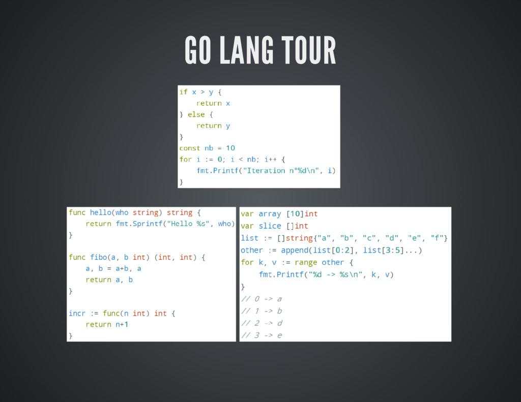 GO LANG TOUR