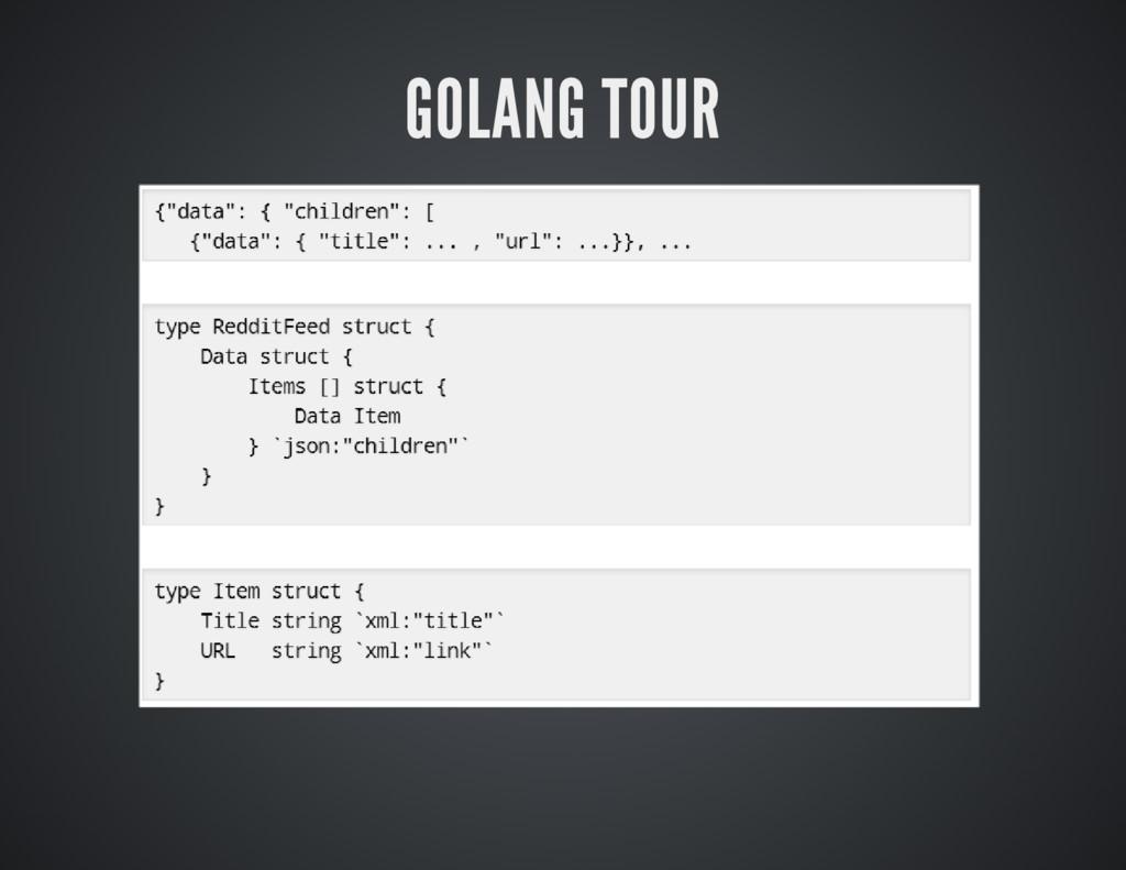 GOLANG TOUR
