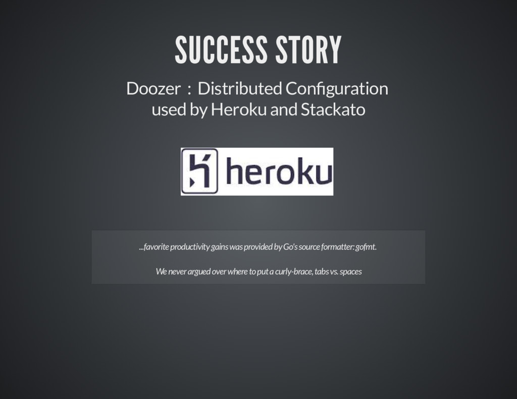SUCCESS STORY Doozer : Distributed Con guration...