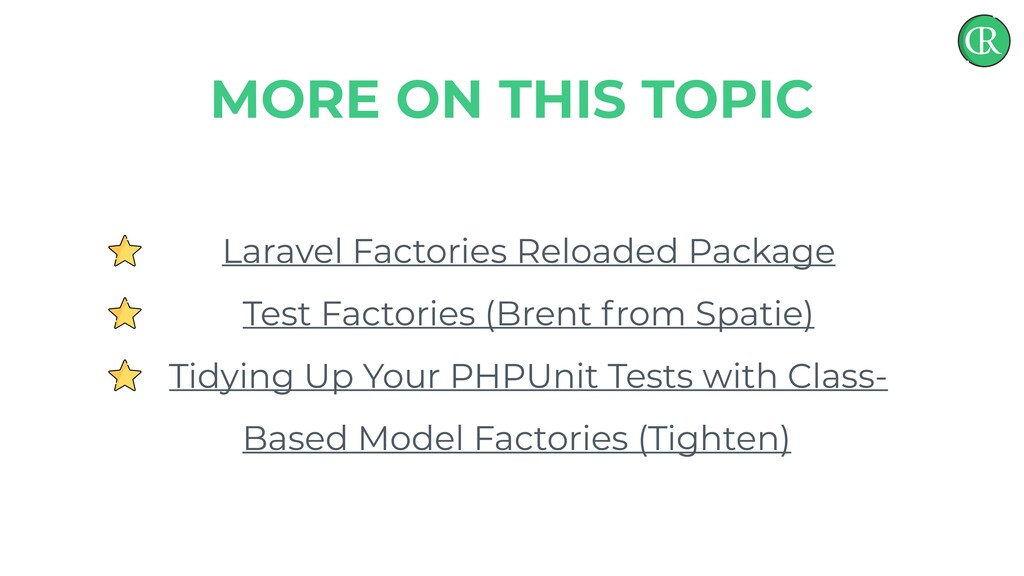 Laravel Factories Reloaded Package Test Factori...