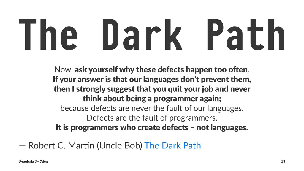 The Dark Path And what is it that programmers a...