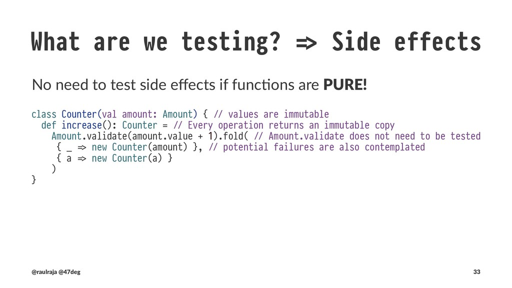 "What are we testing? !"" Side effects Side effect..."