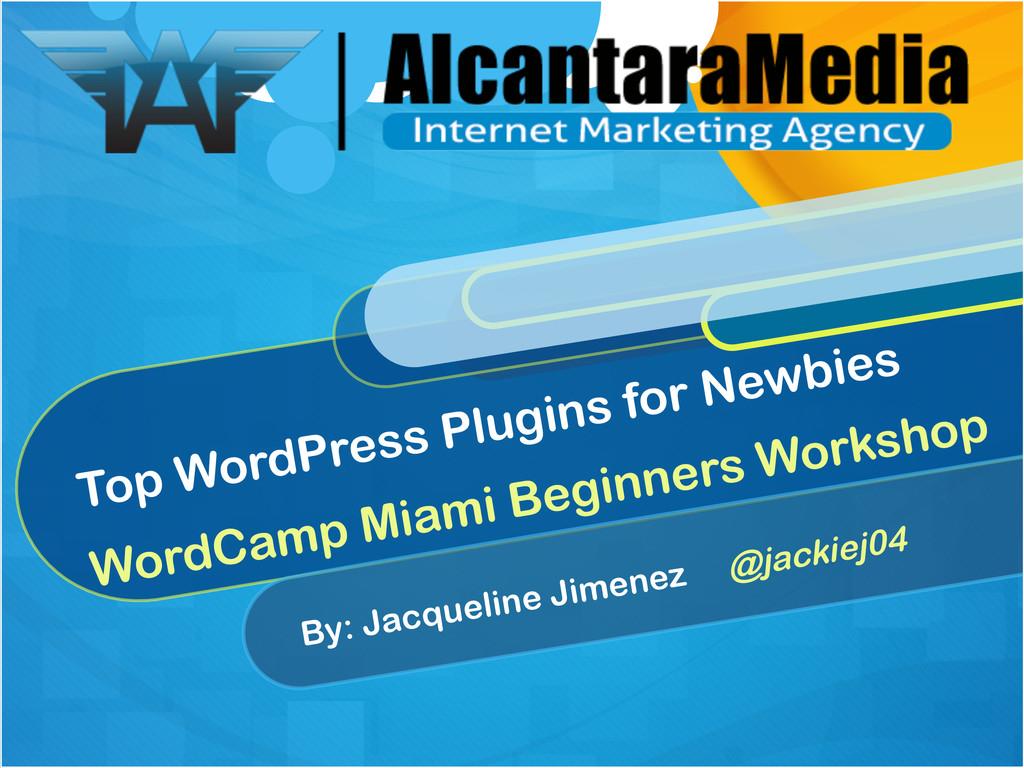 Top WordPress Plugins for Newbies WordCamp Miam...