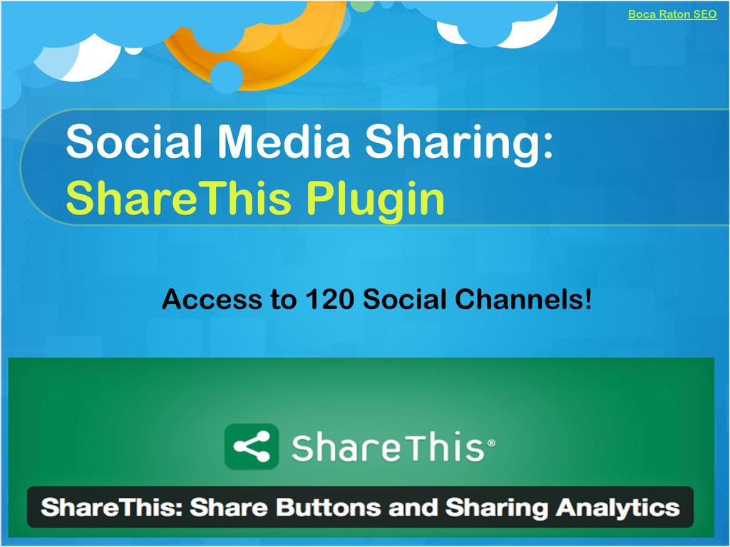 Boca Raton SEO Social Media Sharing: ShareThis ...