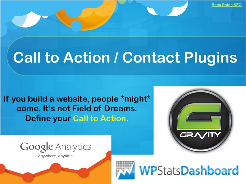 Boca Raton SEO Call to Action / Contact Plugins...
