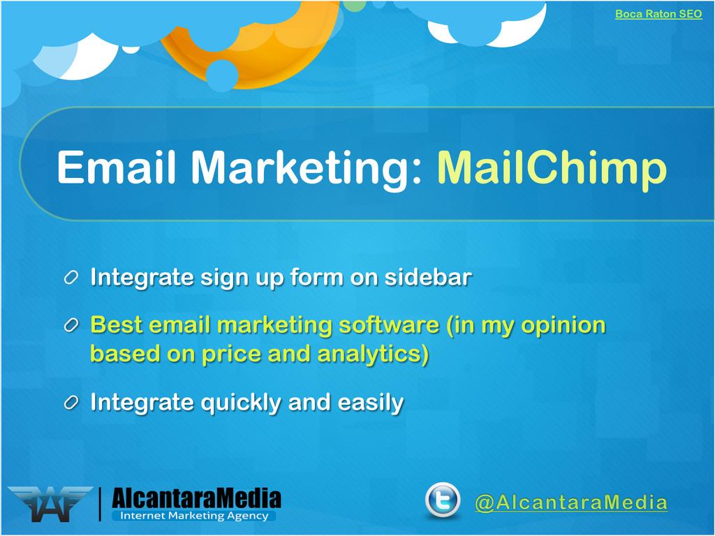 Boca Raton SEO Email Marketing: MailChimp !  I...