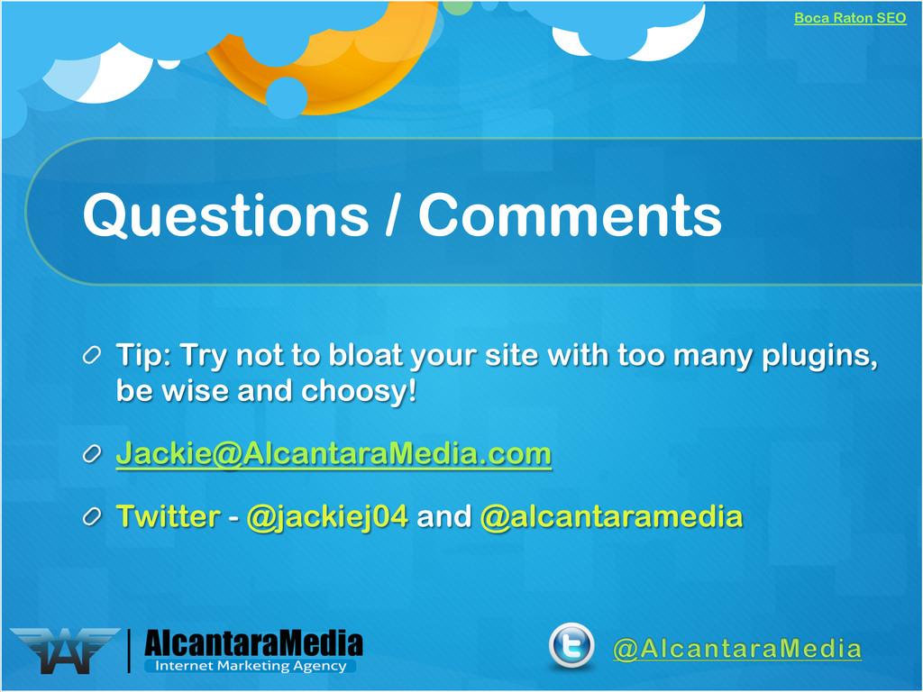 Boca Raton SEO Questions / Comments !  Tip: Tr...