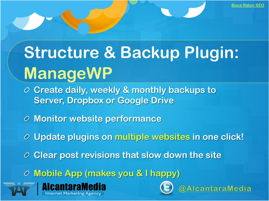 Boca Raton SEO Structure & Backup Plugin: Manag...