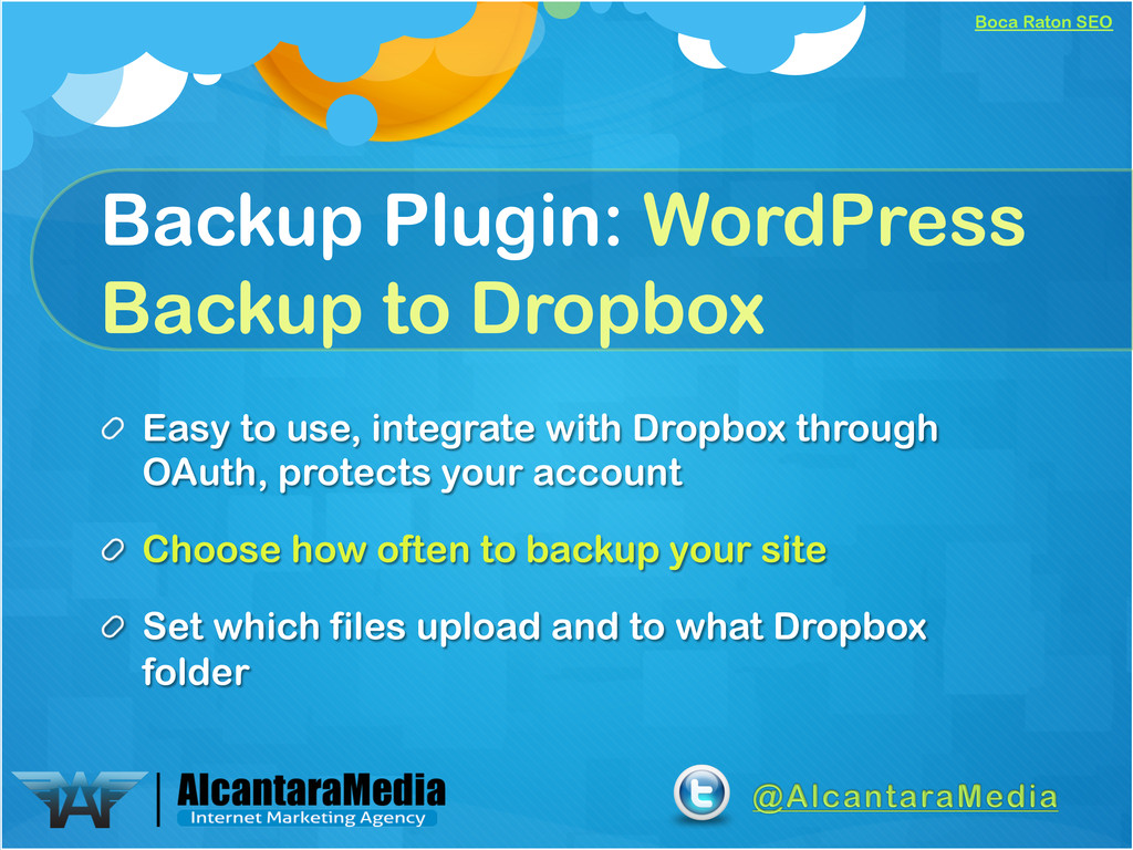 Boca Raton SEO Backup Plugin: WordPress Backup ...