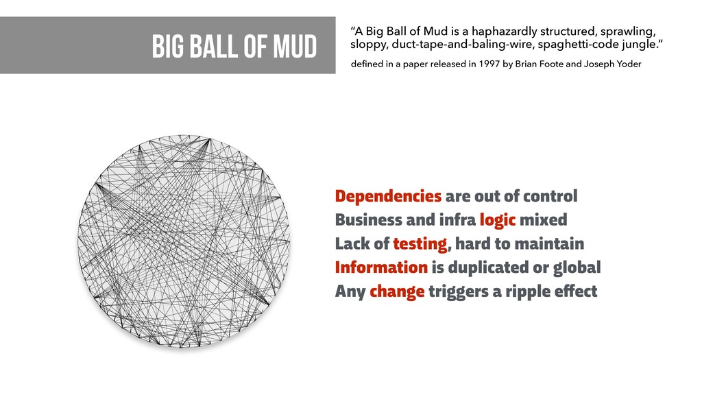Dependencies are out of control Business and in...