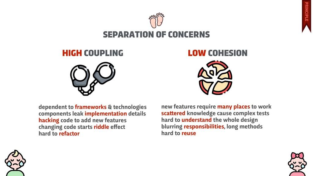 HIGH COUPLING dependent to frameworks & technol...