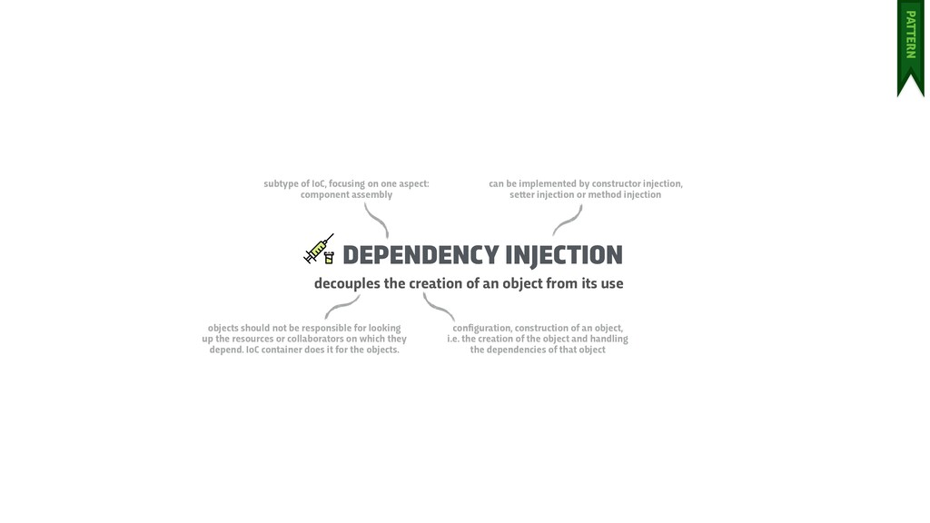 DEPENDENCY INJECTION decouples the creation of ...