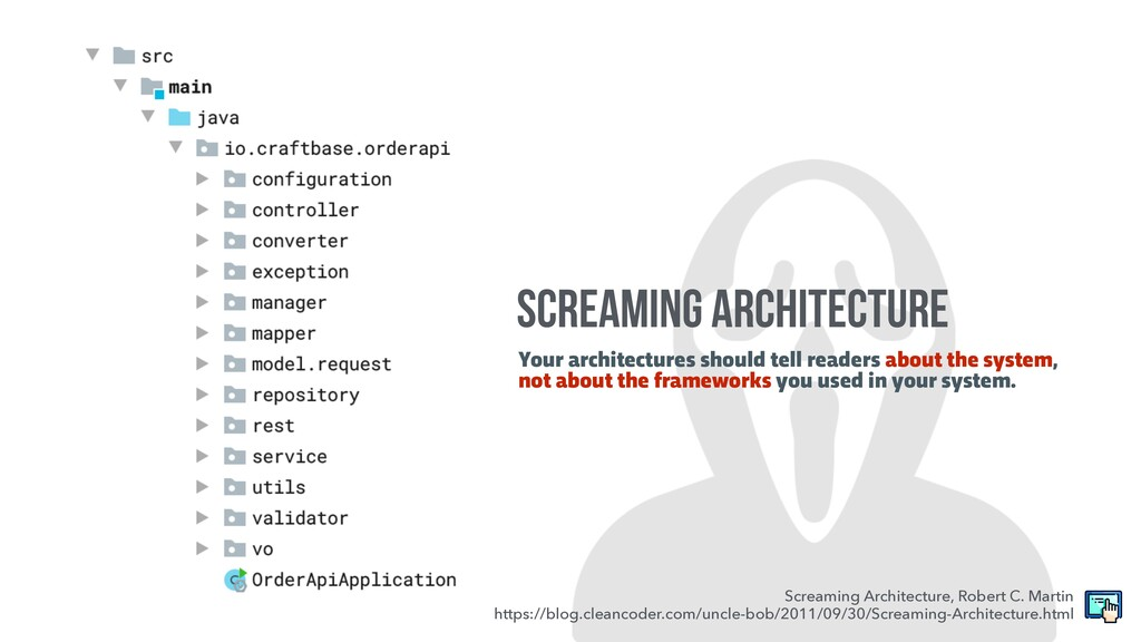 Your architectures should tell readers about th...