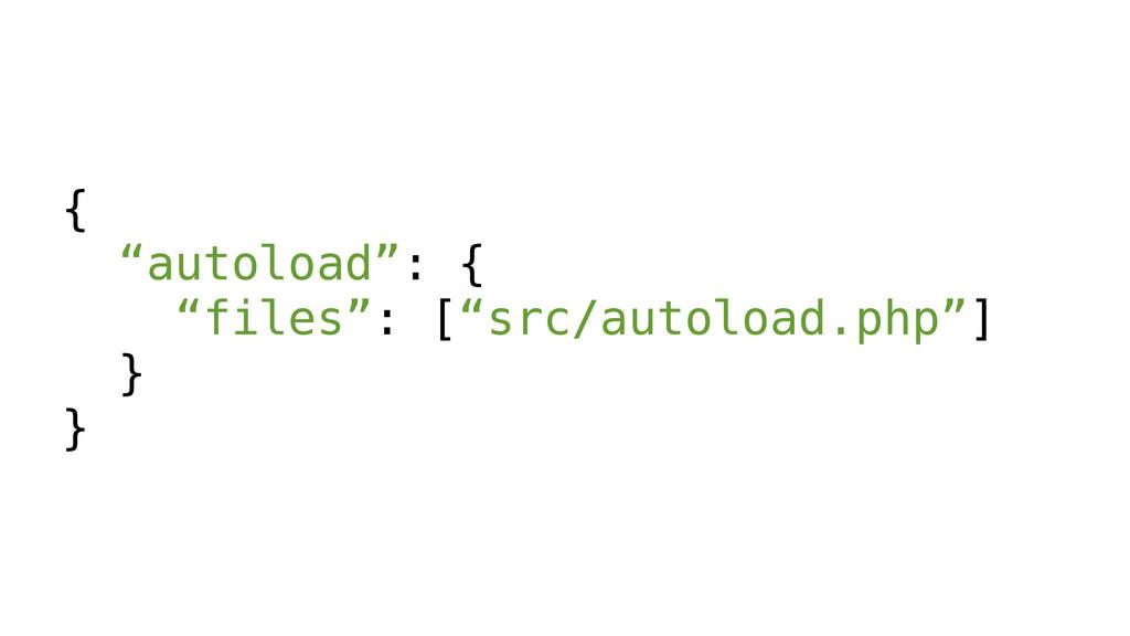 "{ ""autoload"": { ""files"": [""src/autoload.php""] }..."