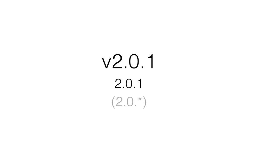 v2.0.1 2.0.1 (2.0.*)