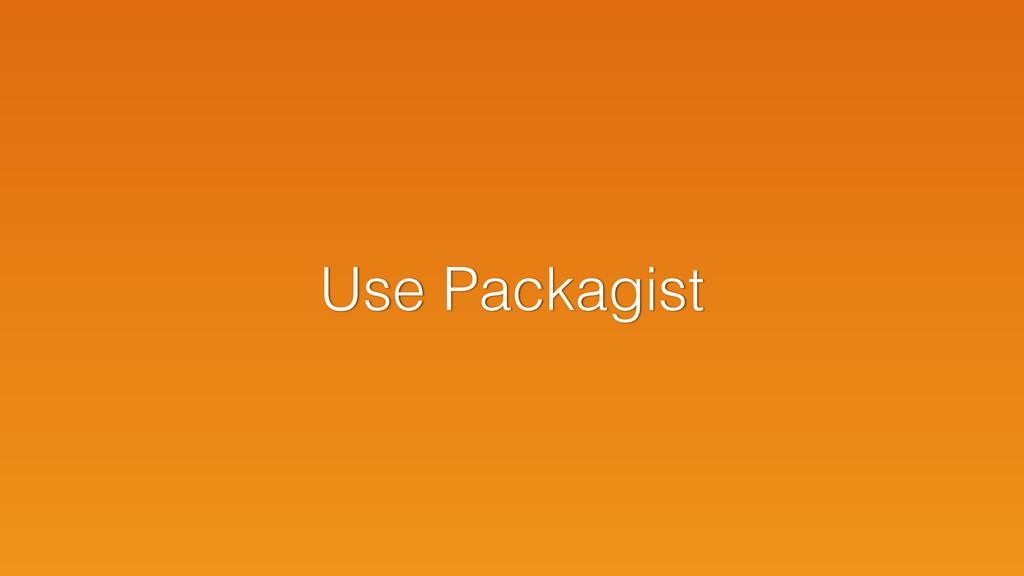 Use Packagist