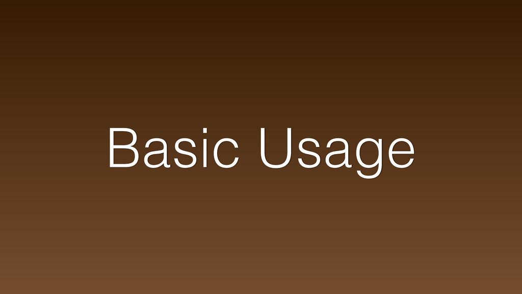 Basic Usage