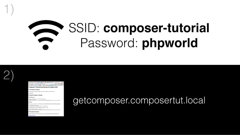 1) SSID: composer-tutorial Password: phpworld g...