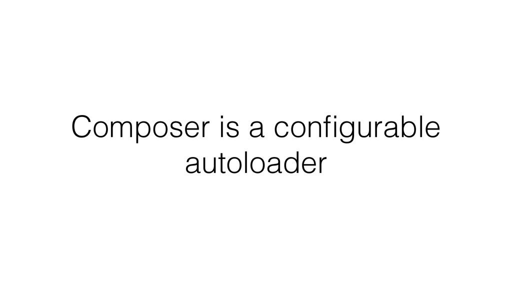 Composer is a configurable autoloader