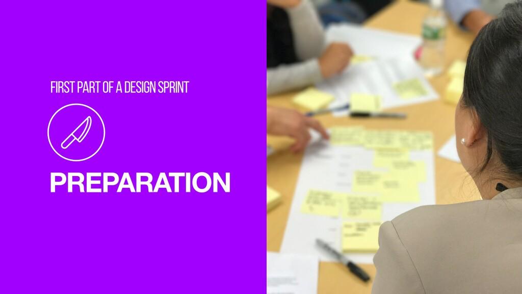 8 PREPARATION FIRST PART OF A DESIGN SPRINT