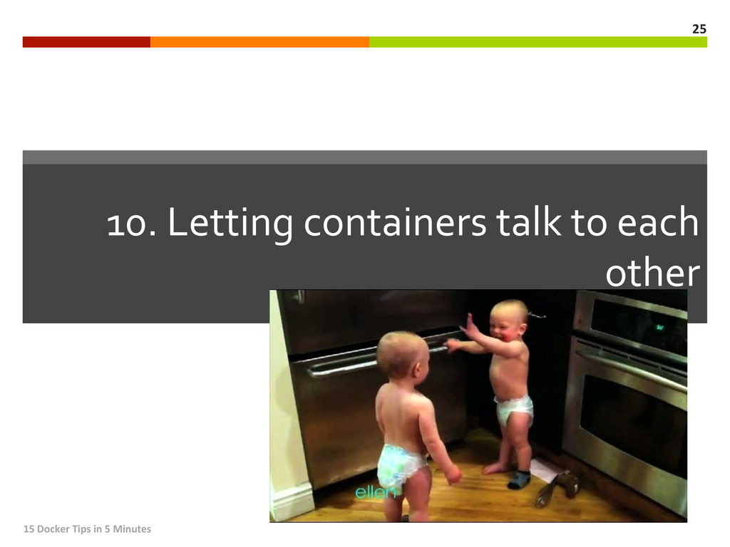 10. Letting containers talk to e...