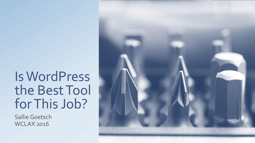 Is WordPress the Best Tool for This Job? Sallie...