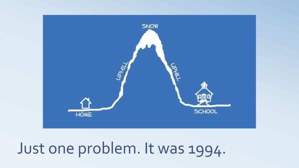 Just one problem. It was 1994.